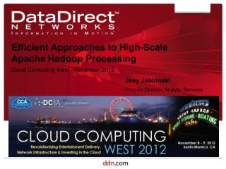 Efficient Approaches to High-Scale Apache Hadoop Processing