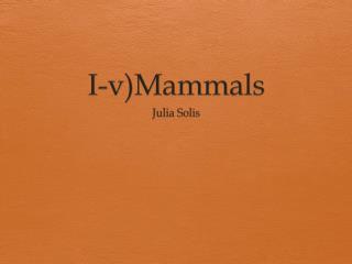I-v)Mammals