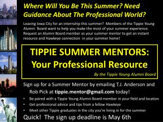 Where Will You Be This Summer? Need Guidance About The Professional World?