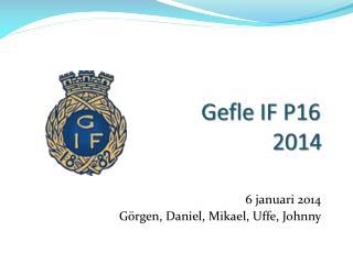 Gefle IF P16 2014