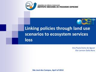 Linking policies through land use scenarios to ecosystem services loss