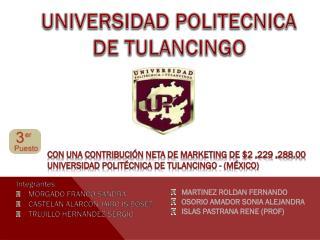 UNIVERSIDAD POLITECNICA DE TULANCINGO