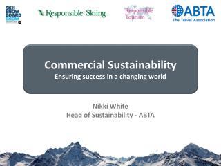 Nikki White Head of Sustainability - ABTA