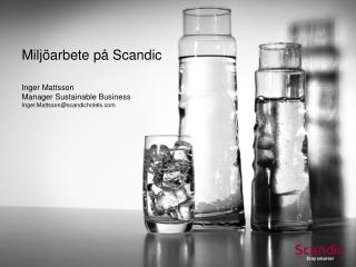 Miljöarbete på Scandic