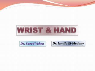 Dr. Saeed Vohra