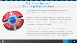 Our Unique  Approach: Enhancing  Enterprise Value