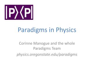 Paradigms in Physics