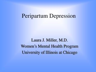 Peripartum Depression
