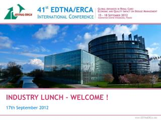 INDUSTRY LUNCH � WELCOME !