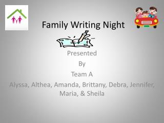 Family Writing Night
