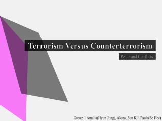 Terrorism Versus Counterterrorism