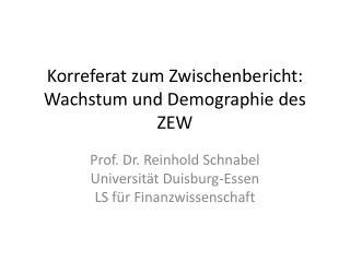 Korreferat zum Zwischenbericht: Wachstum und Demographie des ZEW