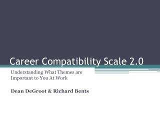 Career Compatibility Scale 2.0