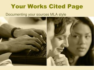 Your Works Cited Page