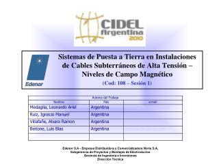 Edenor S.A - Empresa Distribuidora y Comercializadora Norte S.A.