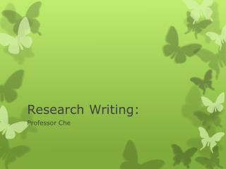 Research Writing: