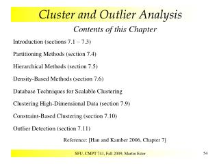Cluster and Outlier Analysis