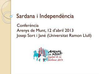 Sardana i Independ�ncia