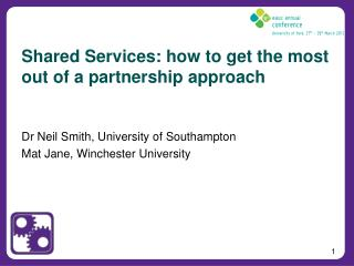 Shared Services: how to get the most out of a partnership approach