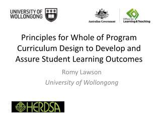 Romy Lawson University of  Wollongong