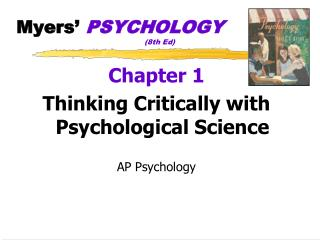 Myers'  PSYCHOLOGY (8th  Ed)