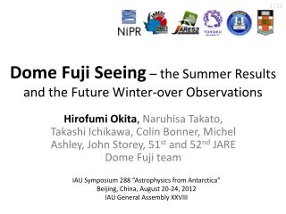 Dome Fuji Seeing – the  Summer  Results and  the Future Winter-over  Observations