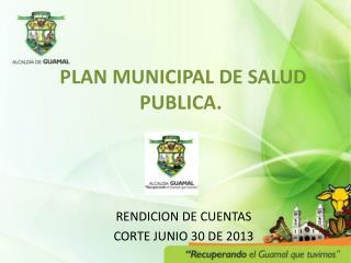 PLAN MUNICIPAL DE SALUD PUBLICA.