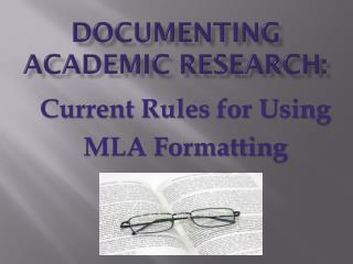 Documenting Academic Research:
