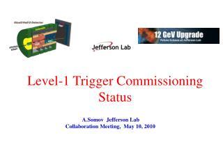 Level-1 Trigger Commissioning Status