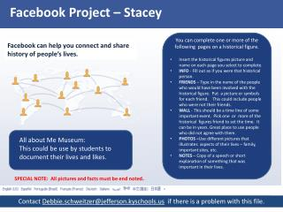 Facebook Project –  Stacey