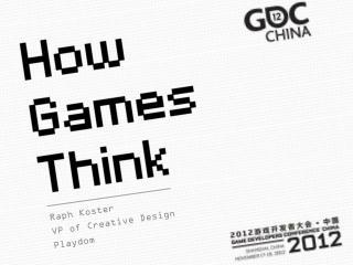 Raph Koster VP of Creative Design Playdom
