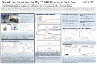 Ground Level Enhancement of May 17, 2012 Observed at South Pole