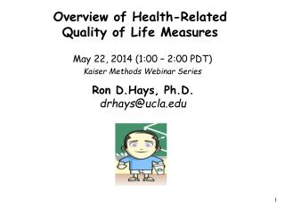 Overview of Health-Related  Quality of Life Measures