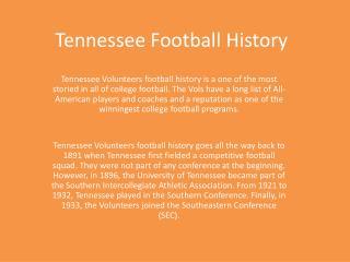 Tennessee Football History