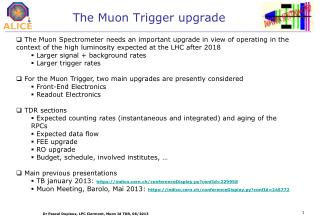 The Muon Trigger upgrade