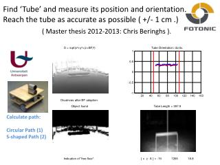 Find �Tube� and measure its position and orientation.