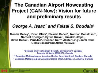 The Canadian Airport Nowcasting Project CAN-Now: Vision for future and preliminary results