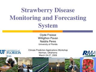 Strawberry Disease Monitoring and Forecasting System