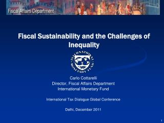 Fiscal Sustainability and the Challenges of Inequality