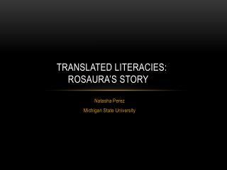 Translated literacies: Rosaura's story