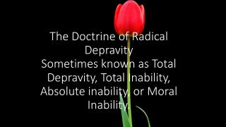 Definition for Radical Depravity?