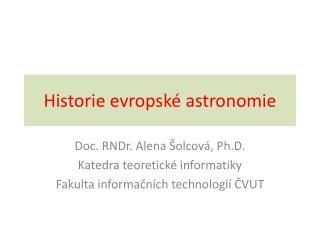Historie evropsk é astronomie