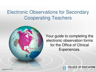 Electronic Observations for Secondary Cooperating Teachers