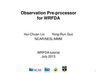 Observation Pre-processor for WRFDA