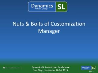 Nuts & Bolts of Customization Manager