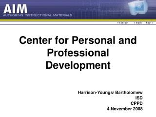 Center for Personal and Professional Development