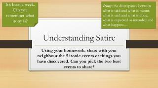 Understanding Satire