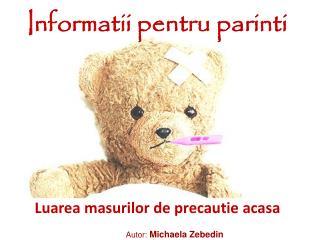 Informatii pentru parinti