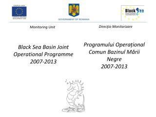 Black  Sea  Basin  Joint Operational  Programme  2007-2013