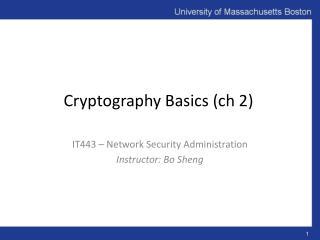 Cryptography Basics ( ch  2)